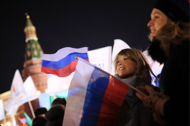 Russia, Sevastopol, Crimea combined rally and concert in Moscow