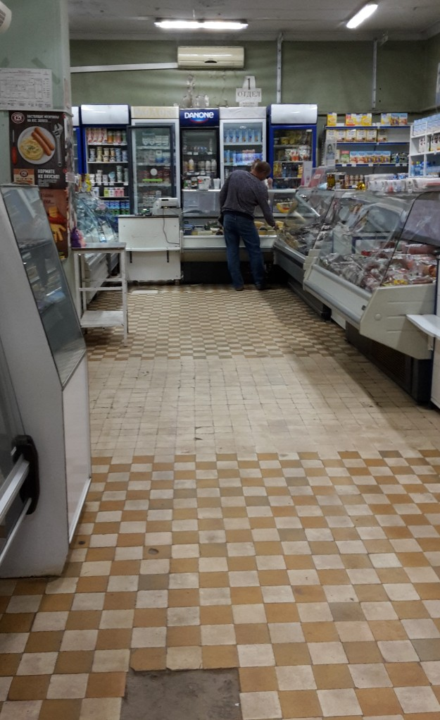 small shop in Russia